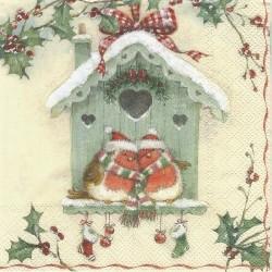 Vánoce v ptačí budce 33x33
