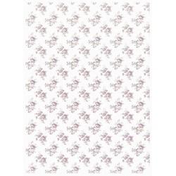 Papír rýžový A4 Celoplošný, růžičky fialkové