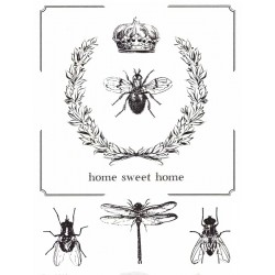 Papír rýžový A4 Home Sweet Home, moucha