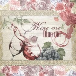 Wine me Dine me 33x33