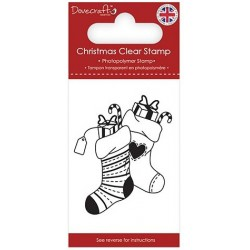 Transp.razítko Vánoční ponožky