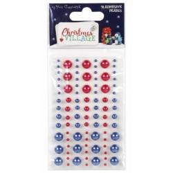 Perličky samolepící Christmas Vilage (91ks)