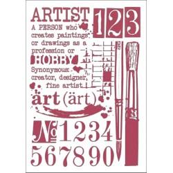 Šablona - Umění (A4)