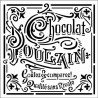 Šablona Mix Media 18x18 - Čokoláda