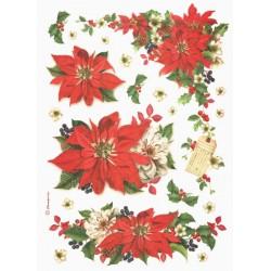 Papír rýžový A4 Vánoční hvězda