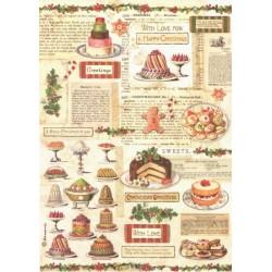 Papír rýžový A4 Christmas Vintage, cukroví