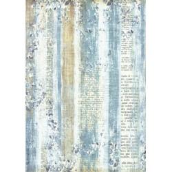 Papír rýžový A4 Blue Land, pozadí s textem