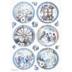 Papír rýžový A4 Blue Land, obrázky v kruzích