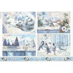 Papír rýžový A4 Blue Land, čtyři obrázky