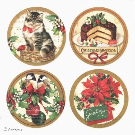 Samolepky 21x21cm Christmas Vintage (Stamperia)