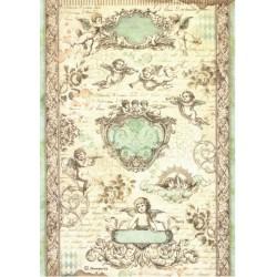 Papír rýžový A4 Barokní andílci