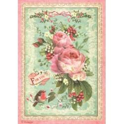 Papír rýžový A4 Růže pro Tebe