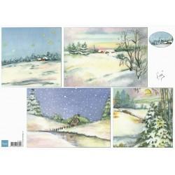 PapírA4 zimní krajina na pozadí (MD)