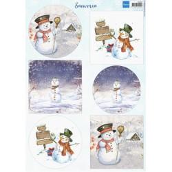 PapírA4 sněhuláci, kruhy, čtverce (MD)