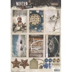 Papírové výseky A4 - Winter Trails, nr.626 (SL)