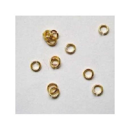 Spojovací kroužek - barva zlatá - 5mm, 10ks