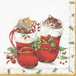 Červené vánoční boty 33x33