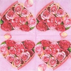 Růžičky v srdíčku 33x33
