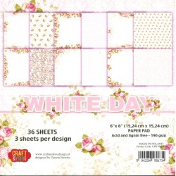 Sada papírů 15x15 White Day (Craft & You)