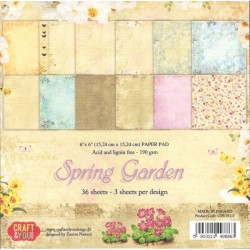 Sada papírů 15x15 Spring Garden (Craft & You)