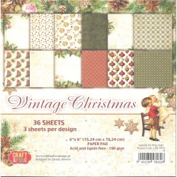 Sada papírů 15x15 Vintage Christmas (Craft & You)