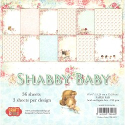 Sada papírů 15x15 Shabby Baby (Craft & You)