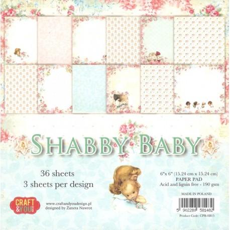 Sada papírů 15x15 Shabby Baby (Craft & You)