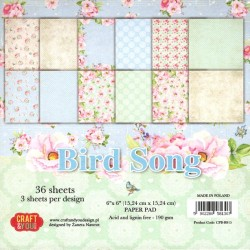 Sada papírů 15x15 Bird Song (Craft & You)