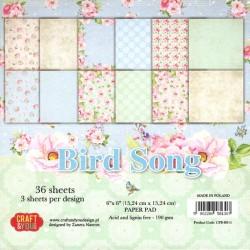 Sada papírů 15x15 Bird Song (Craft & You)