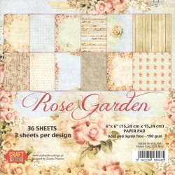 Sada papírů 15x15 Rose Garden (Craft & You)