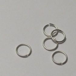 Spojov.kroužek - barva stříbř. - 10mm, 5ks