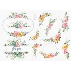Papír rýžový A4 Akvarel, motivy na krabičky, for you