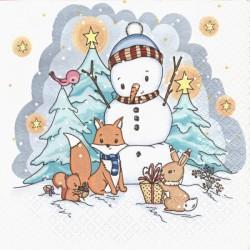 Sněhuláček s přáteli 33x33