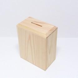 Dřevěná pokladnička vysoká, dno na šroubky