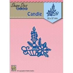 Vyřezávací šablona - Vánoční svíce (Nellie´s Choice)
