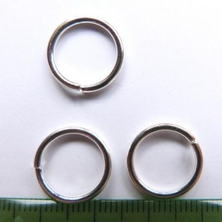 Spojovací kroužek - barva stříbrná - 12mm, 5ks