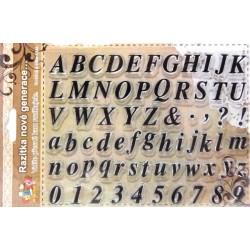 Transp.razítka - Písmena a číslice
