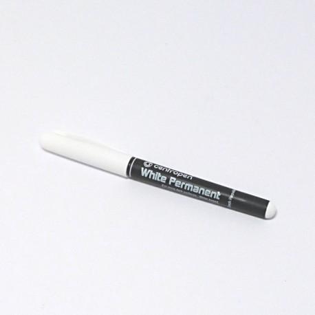 Popisovač permanentní - bílý tenký (Centropen)