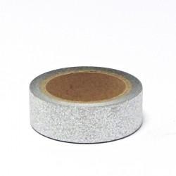 Papírová páska glitterová 15mm/5m - stříbrná