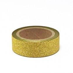 Papírová páska glitterová 15mm/5m - zlatá