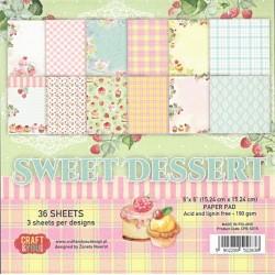 Sada papírů 15x15 Sweet Dessert (Craft & You)
