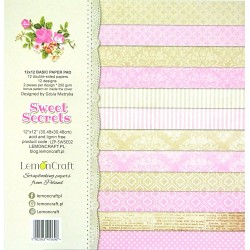 Sada papírů na pozadí 30,5x30 Sweet Secrets + bonus
