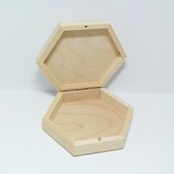 Dřevěná šestihranná krabička - malá