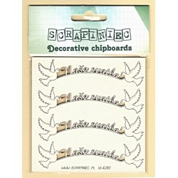 Naše svatba s holubicemi - 4ks chipboards