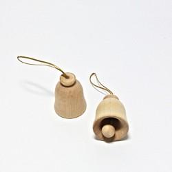 Dřev.dekorace - zvoneček 3,5cm