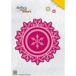 Vyřezávací šablony - Vánoční kruhové s vločkami a prošíváním (Nellie´s Choice)