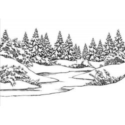 Embossovací kapsa - Zimní krajina
