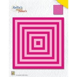 Vyřezávací šablony - Čtverce XL (Nellie´s Choice)