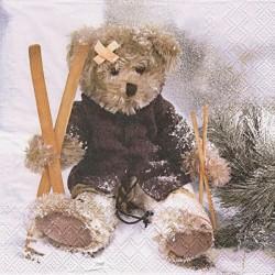 Medvídek lyžař 33x33