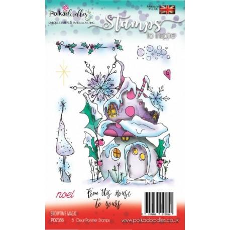 Sada razítek Polkadoodles - Snowtime Magic